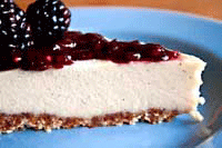 Raw Vegan Cheesecake Slice